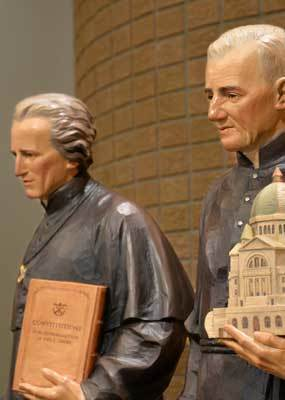 Blessed Basil Moreau and Saint Andre statues