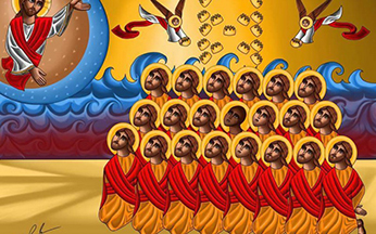 Coptic Martyrs Icon by Rezk