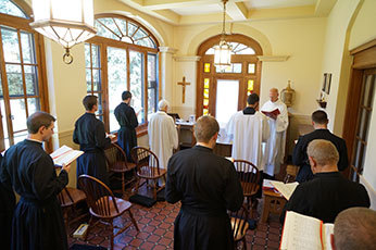 Daily Mass at the Novitiate