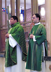 Deacon Dan Ponisciak, CSC and Fr Paul Ybarra, CSC