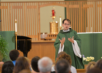 Fr Dan preaches at St Joseph Parish