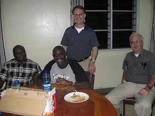 Fr Pat Neary, CSC with some of the Holy Cross family in East Africa