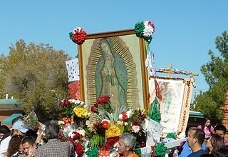 Our Lady of Guadalupe in procession