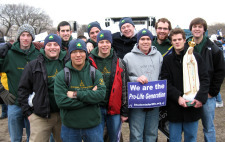 Old Collegians at the 2010 March for Life in Washington, DC