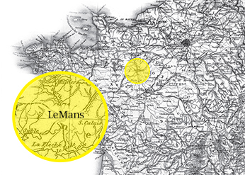 Map of LeMans, France