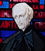 Blessed Basil Moreau stained glass