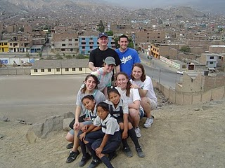 Fr Peter Walsh, CSC with Yale students visiting Peru