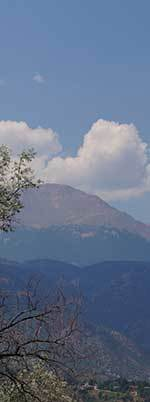 The View of Pike's Peak from the Novitiate
