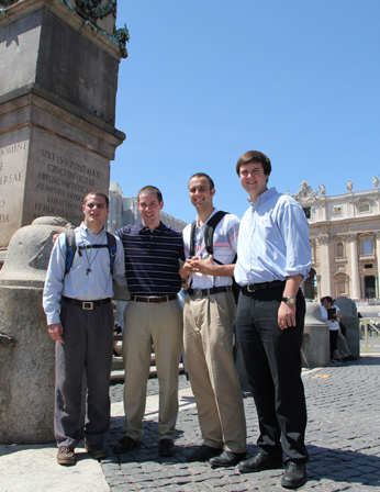 Old Collegians studying in Rome