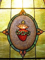 The Sacred Heart of Jesus stained glass window