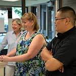 Fr Brian Ching, CSC with St Joseph Parish Staff Members