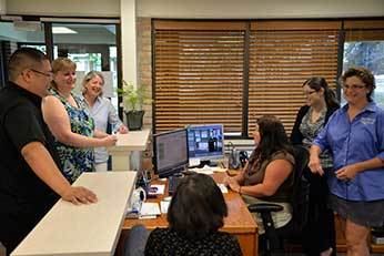 Fr Brian Ching, CSC and St Joseph Parish Lay Staff