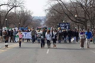 Yale students leading the way on the March for Life in Washington DC